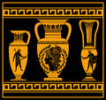 Hellenic jugs second variant vector illustration Royalty Free Stock Photo
