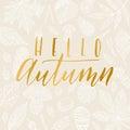 Hello autumn card.