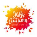 Hello, Autumn. Goodbye, Summer Royalty Free Stock Photo