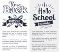Back to School Time Sticker with Text on White Royalty Free Stock Photo