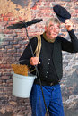 Hello chimney sweep friendly saying with his cap Royalty Free Stock Photos