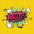 Hello !- Comic Speech Bubble. Vector Eps 10