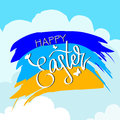 Hello easter lettering modern calligraphy style. Handwriting Easter phrases
