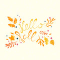 Hello Fall hand lettering