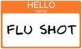 Hello I got my Flu Shot Royalty Free Stock Photo