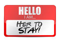 Hello i am here to stay tag illustration design over white Royalty Free Stock Images