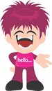 Hello iyan cartoon s portofolio featuring high quality royalty free images available for purchase on dreamstime Stock Photography