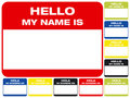 Hello, my name is Stock Image