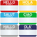 Hello My Name Is Tags Royalty Free Stock Photo