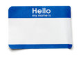 Hello Name Tag Royalty Free Stock Photo