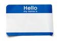 Hello Name Tag Royalty Free Stock Photo