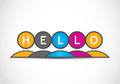 Hello people concept abstract background Stock Photos