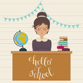 Hello school inspirational quote Royalty Free Stock Photo
