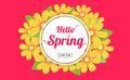 Hello spring season time, sales season banner or poster