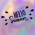 Hello summer. Abstract vector blurred background