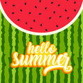 Hello summer greeting card Royalty Free Stock Photo
