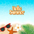 Hello summer holiday background. Season vacation, weekend. Vecto
