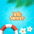 Hello summer holiday background. Vector Illustration.