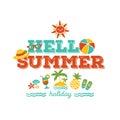 Hello summer holiday Royalty Free Stock Photo