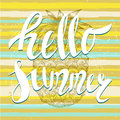 It s summer time, lettering and mint ice cream