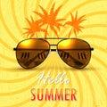Hello Summer. Summer background/banner
