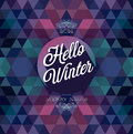 Hello winter poster vector illustration Royalty Free Stock Image