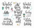 Hello Winter season typography set