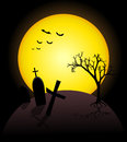Helloween illustration of on dark background Stock Image