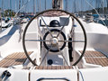 Helm station on sailing boat Royalty Free Stock Image