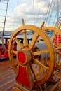 Helm Wheel Of An Old Wooden Sa...