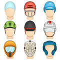 Helmet icon sport illustration of a set Royalty Free Stock Photo
