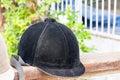 Helmet jockey Royalty Free Stock Photo
