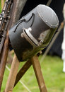 Helmet of a knight Stock Photos