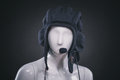 Helmet on mannequin Royalty Free Stock Photo
