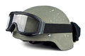 Helmet and tactical points goggles on white background Stock Photography
