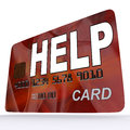 Help bank card shows financial support and giving showing Royalty Free Stock Photo