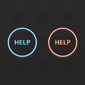 Help button with glow Royalty Free Stock Photos