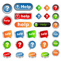 stock image of  Help buttons