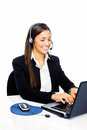 Help desk call center Stock Photo