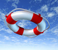 Help Life preserver belt sky rescue Royalty Free Stock Photo