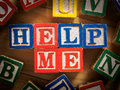 Help me child with problem concept Royalty Free Stock Images