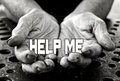 Help me concept in the old female hands Royalty Free Stock Photography