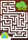 Help peacock find the forest. Maze game for kids