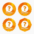 Help point sign icon question symbol triangular low poly buttons with flat vector Royalty Free Stock Images