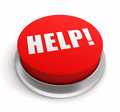 Help push button concept illustration Royalty Free Stock Photo