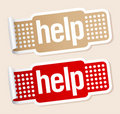Help stickers. Stock Photography