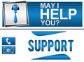 Help support banners may i you and horizontal Stock Images