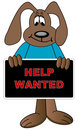 Help wanted cartoon Royalty Free Stock Photography