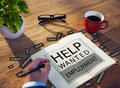 Help Wanted Employment Job Hiring Concept Royalty Free Stock Photo