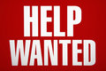 Help wanted sign. Royalty Free Stock Photo